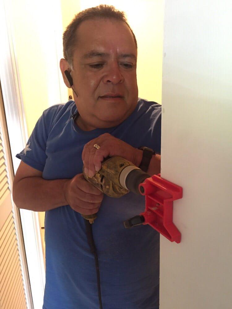 Deadbolt installation yelp for Slim jim air conditioner