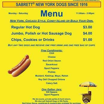Al S Hot Dog Stand Menu