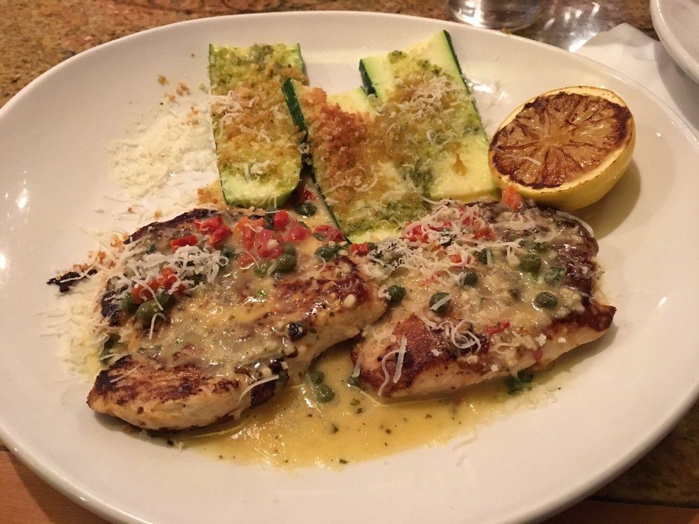 Chicken Piccata With Parmesan Crusted Zucchini Bonus Grilled Lemon And Under 600 Calories Yum