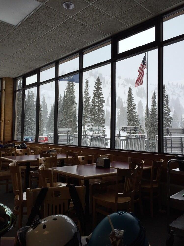 Photo Of Alf S Restaurant Alta Ut United States Enjoying The Snowy View