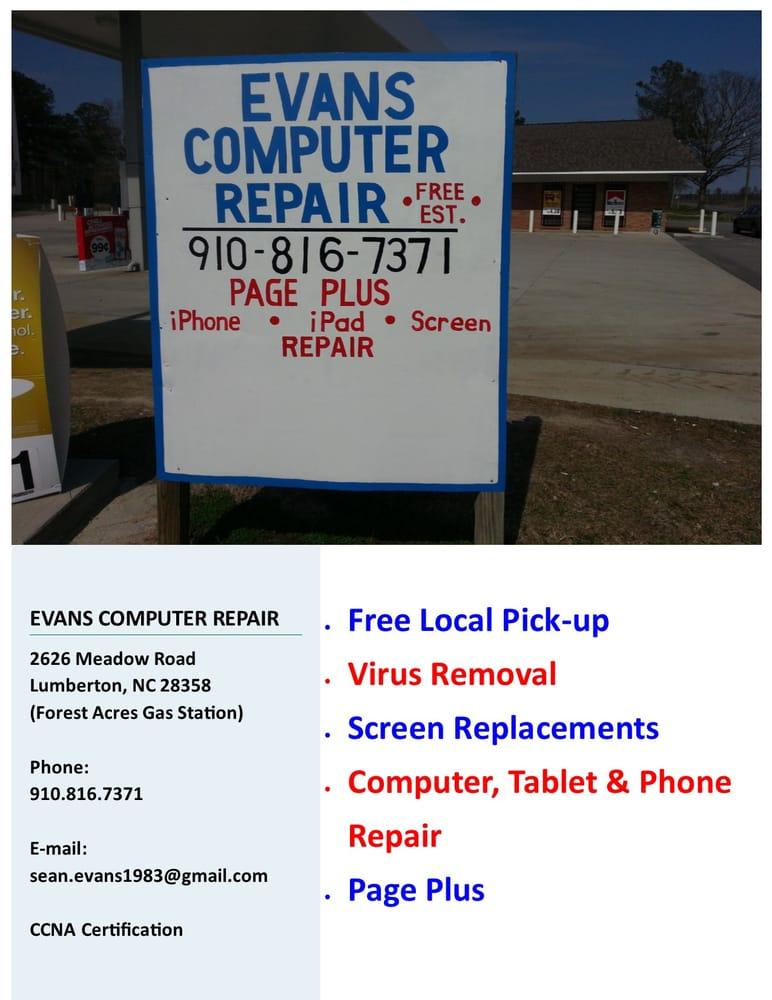 Evans Computer Repair It Services Computer Repair Lumberton