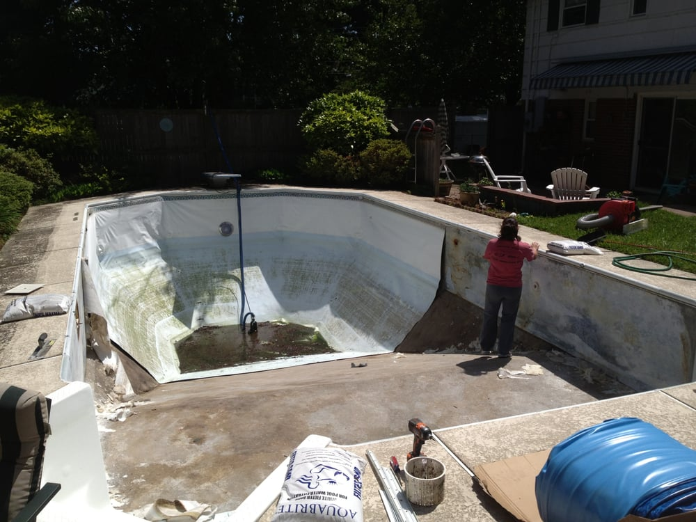 Cracks Divots And Unevenness In The Pool Bottom Are