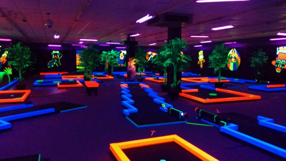 Trippy Indoor Mini Golf Where Everything Glows Yelp