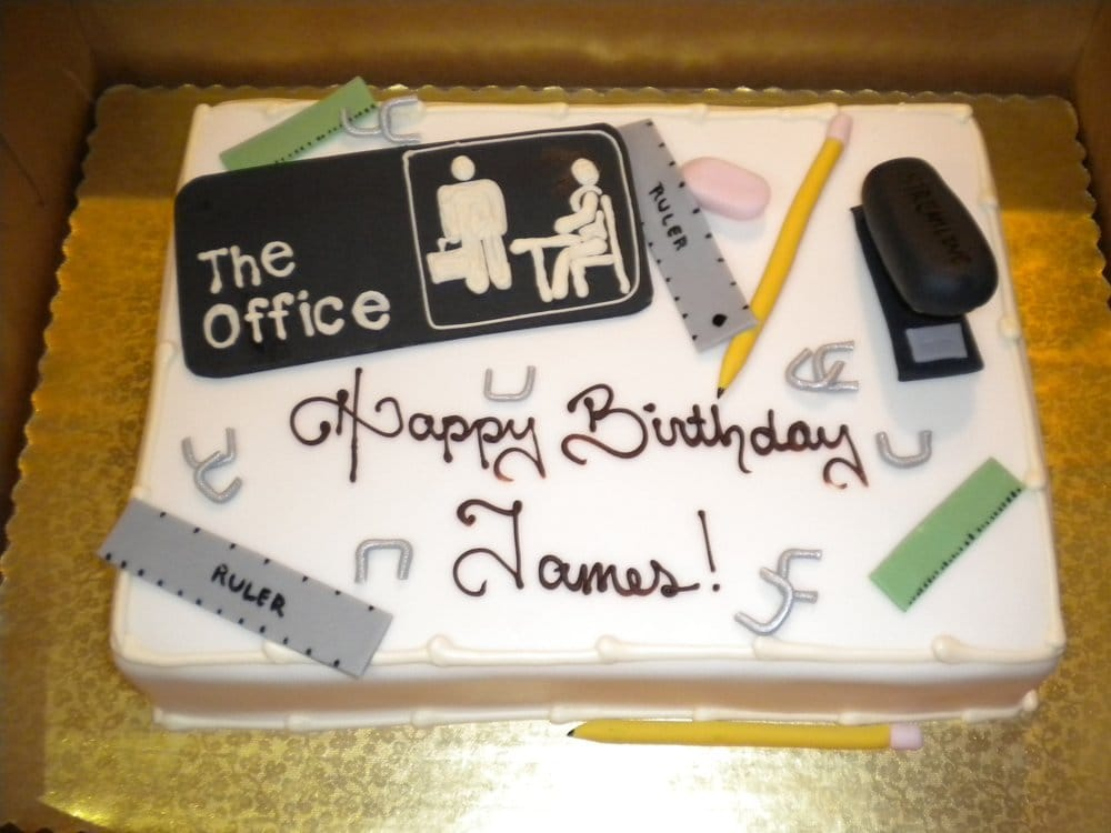 My Office Birthday Cake Everything Is Edible Yelp