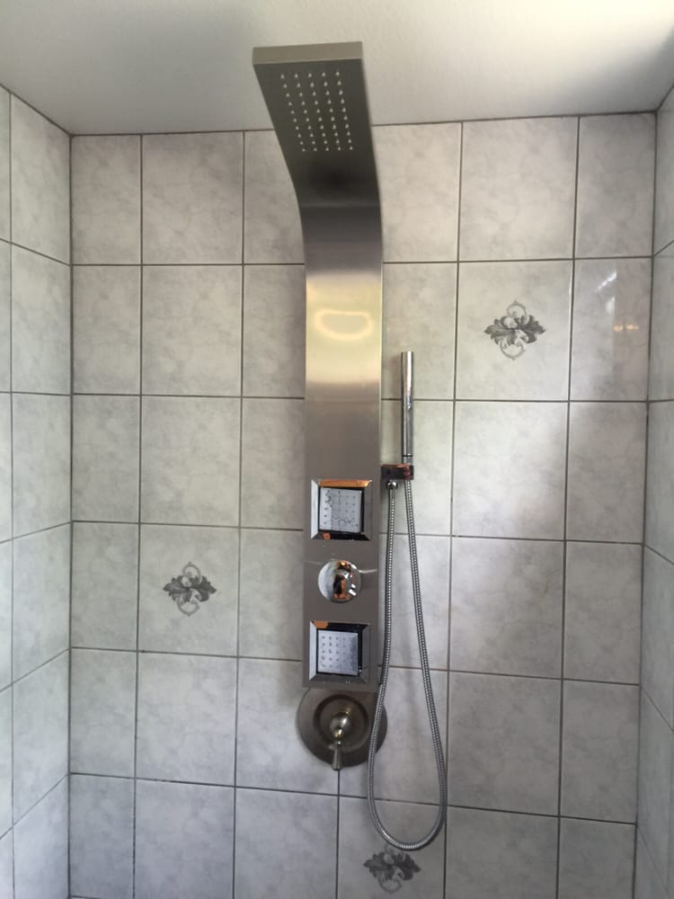 Valore shower racks/panel installed by Matt! - Yelp