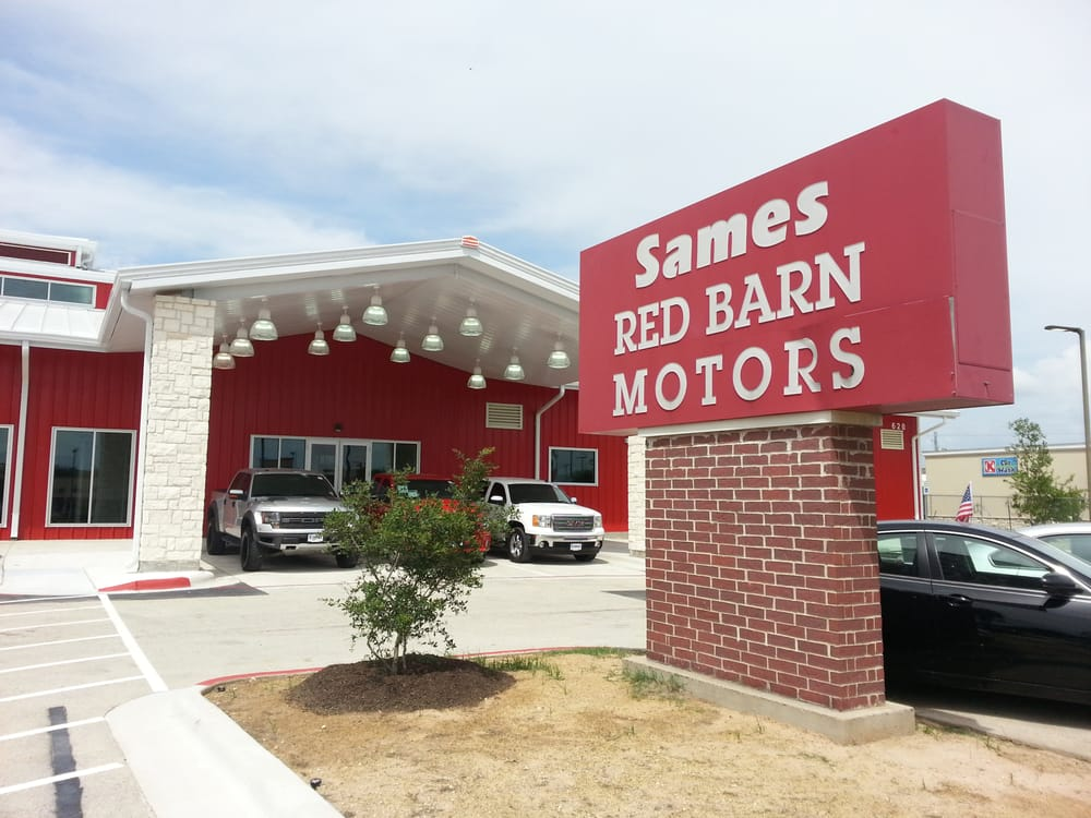 Sames red barn new building yelp for Red barn motors austin tx
