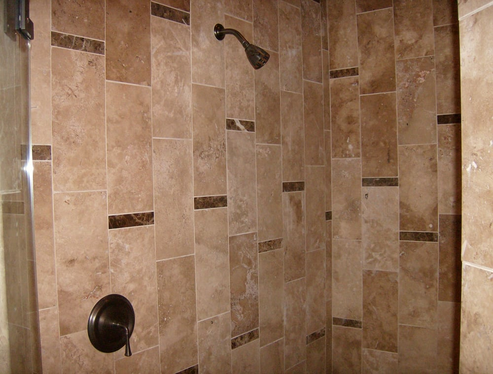 Another shower remodel  Actual install  Stone tile with