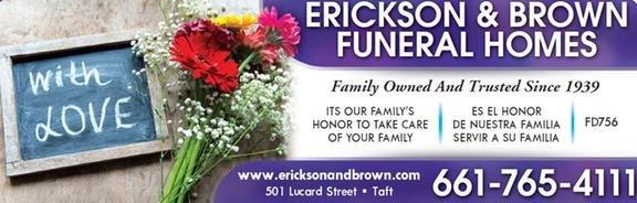 Erickson & Brown Funeral Home: 501 Lucard St, Taft, CA
