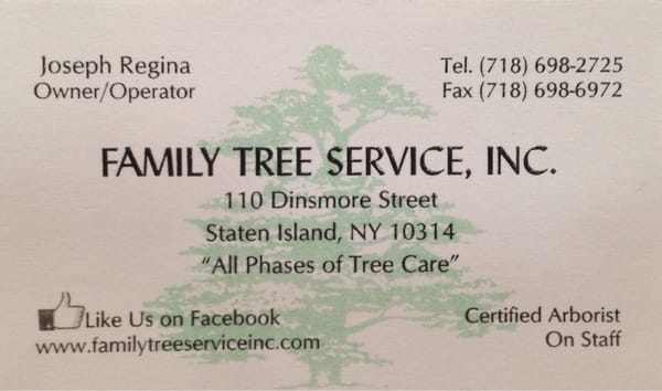 Family Tree Service 110 Dinsmore St Staten Island Ny Services Mapquest