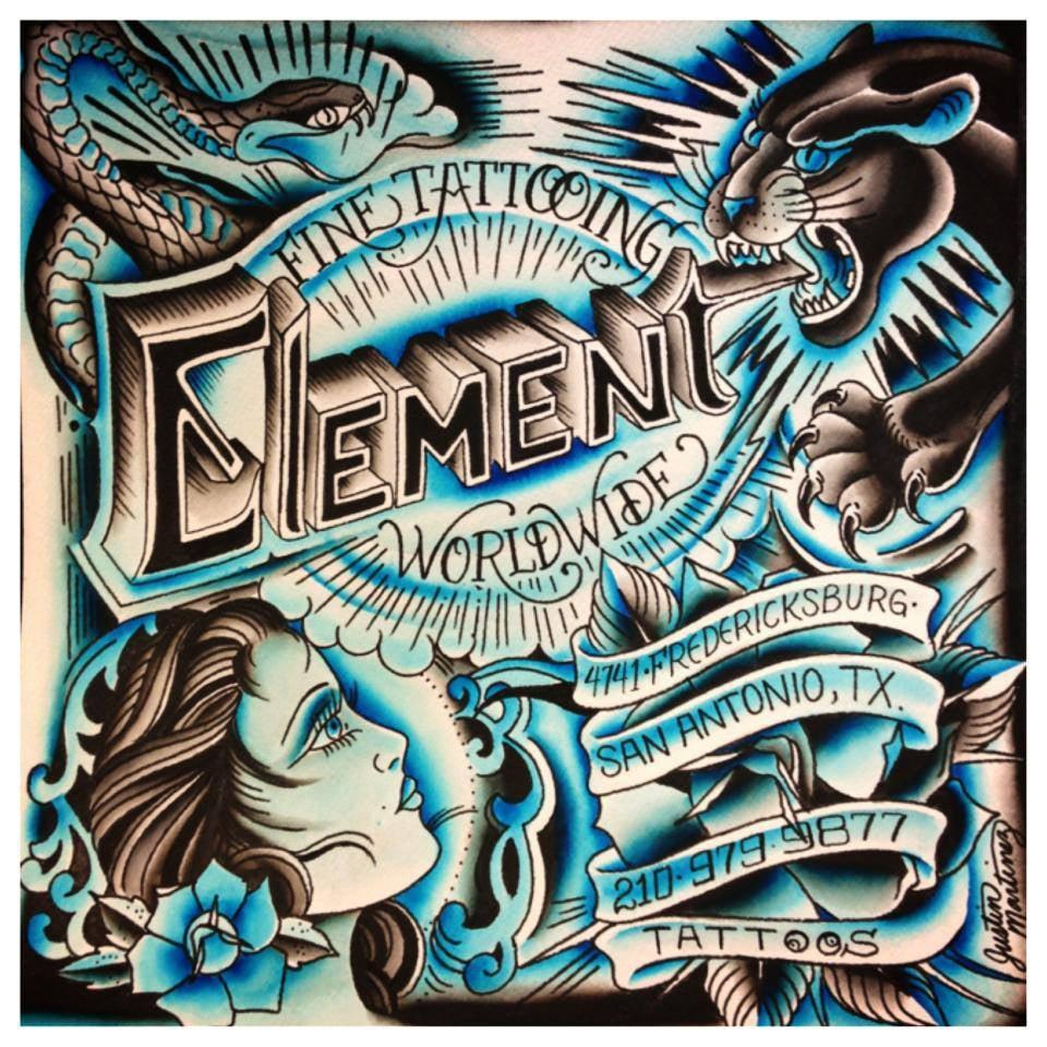 Element Tattoo Studio: 4741 Fredericksburg Rd, San Antonio, TX