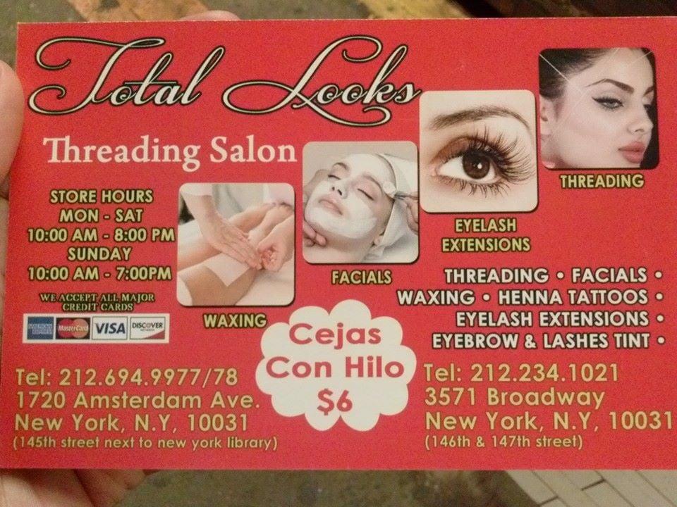 Total Looks Threading Salon Threading Services 3571 Broadway