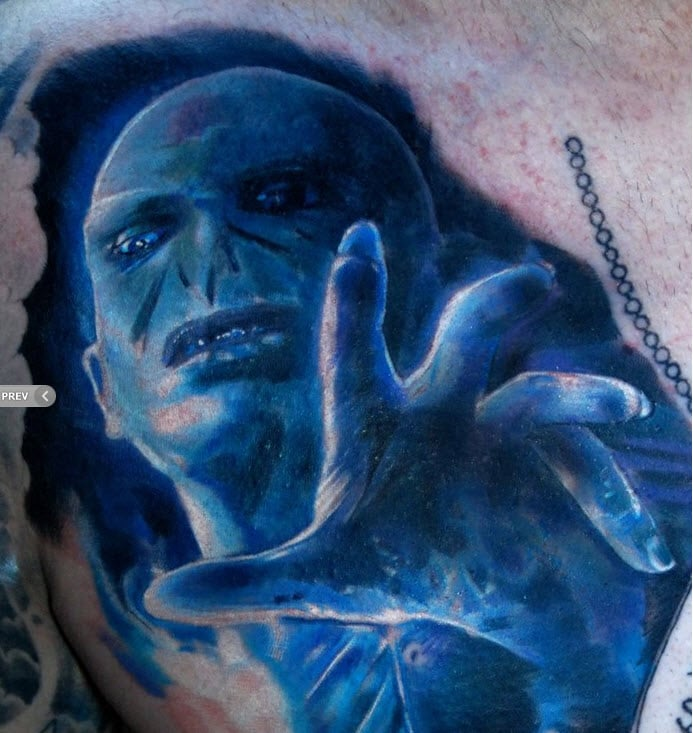 Voldemort tattoo by dan henk yelp for Painful pleasures tattoo
