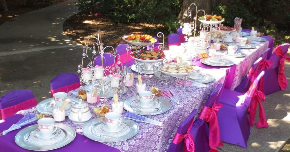 Barbie princess theme birthday party table set up decoration ideas centerpieces supplies kids chair covers - Yelp : barbie table and chair set - pezcame.com