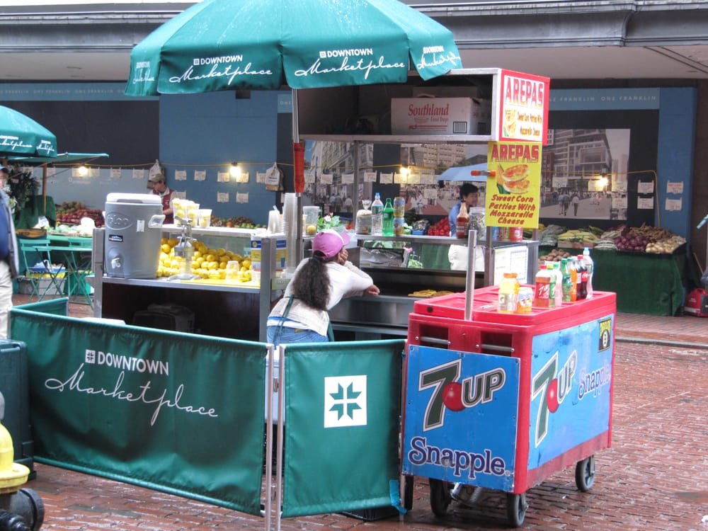 Arepa Cart: Summer Street & Washington Street, Boston, MA