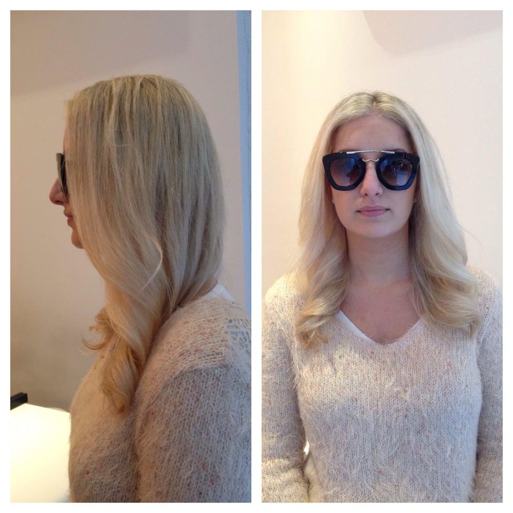 Platinum blonde + Olaplex by Alex, hair color expert of AEREA hair ...