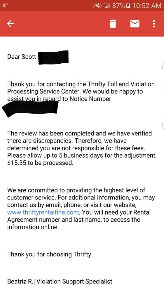 Thrifty Rent A Car Reviews Orlando