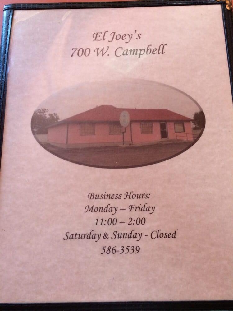 El joey s restaurant ristoranti 700 w campbell st for Kermit alla finestra
