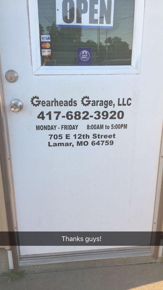 Gearhead's Garage: 705 E 12th St, Lamar, MO