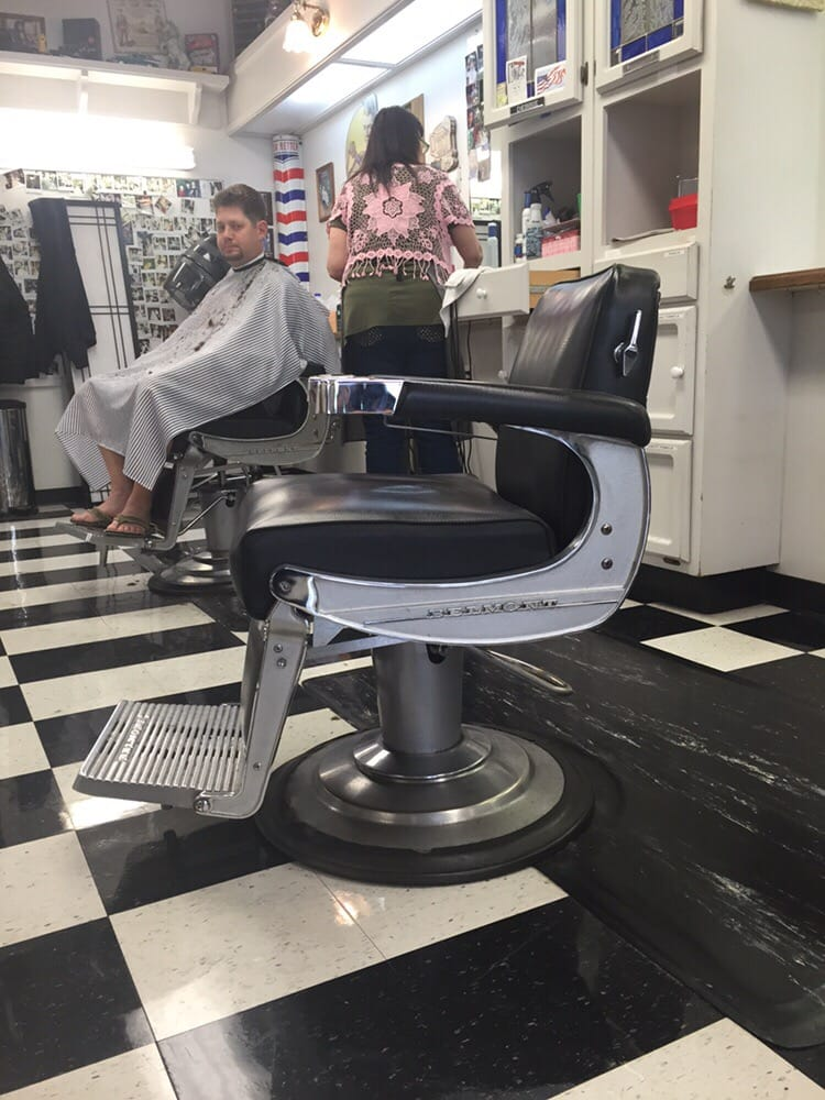 Photo of Hairu0027s The Place - Clayton CA United States. Old Belmont barber & Old Belmont barber chairs - Yelp