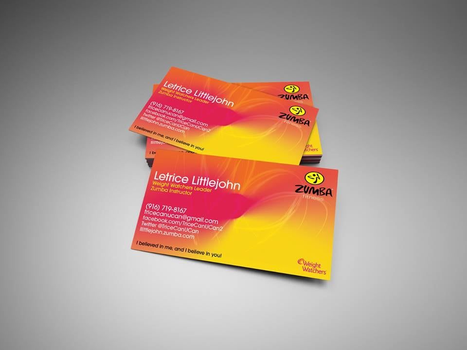 Zumba Instructor business card. - Yelp