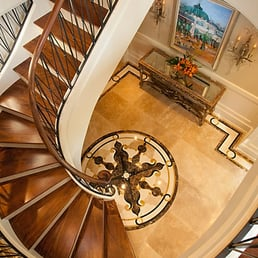 Photo Of Bruce Bennett Photographer   Houston, TX, United States.  Architectural Interior: Architectural Interior: Spiral Staircase