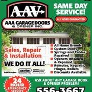 AAA Garage Door And Opener