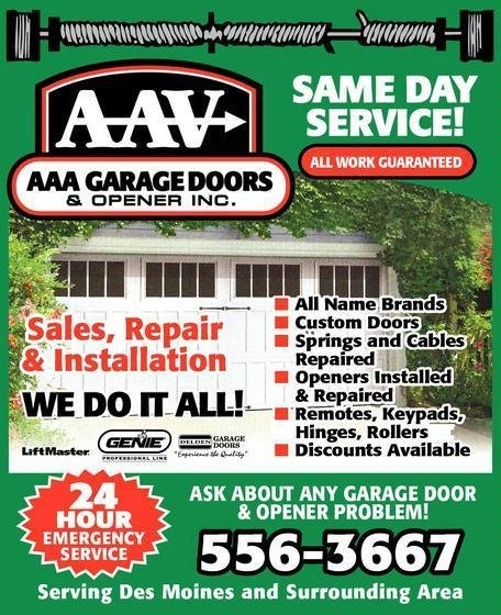 AAA Garage Door and Opener: Adel, IA
