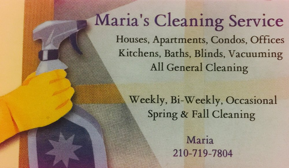 Marias business card yelp photo of marias cleaning service san antonio tx united states marias business reheart Image collections