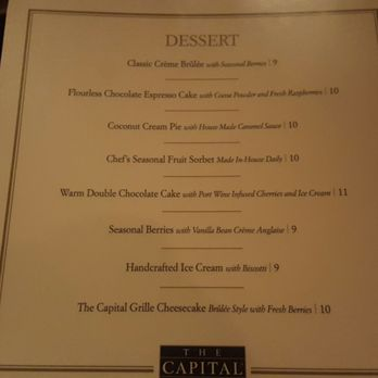 Boston Capital Grille Restaurant Week Menu