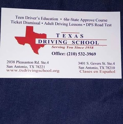 Texas Driving School 2038 Pleasanton Rd Ste 4 San Antonio Tx