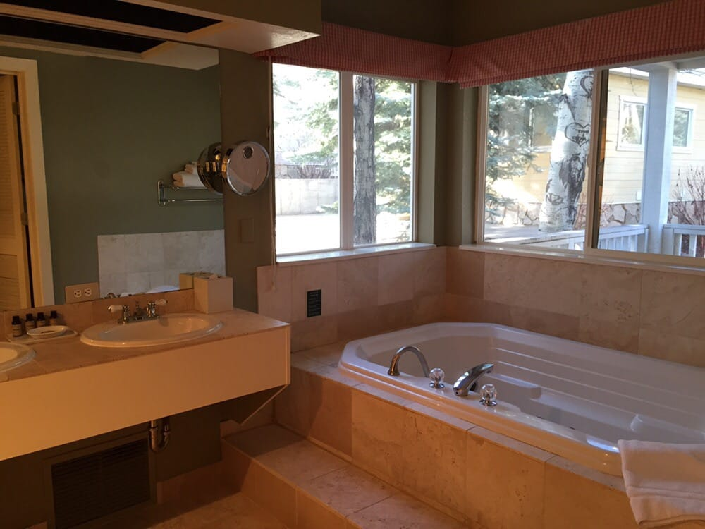 En Suite Bathroom With Separate Toilet: The Luxury Suite, Bathroom W/ A Jetted Tub, Double-sink