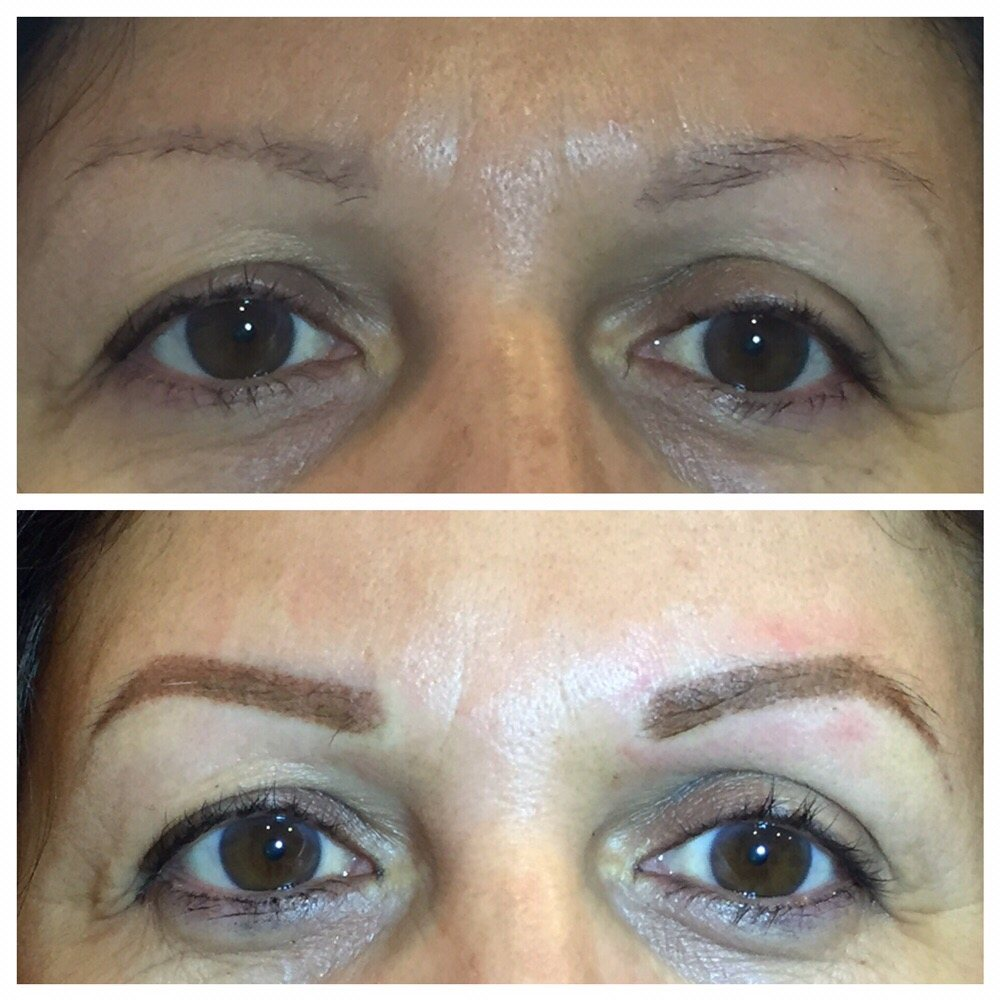 Brow Correction With Stardust Ombr 233 Technique Looks So