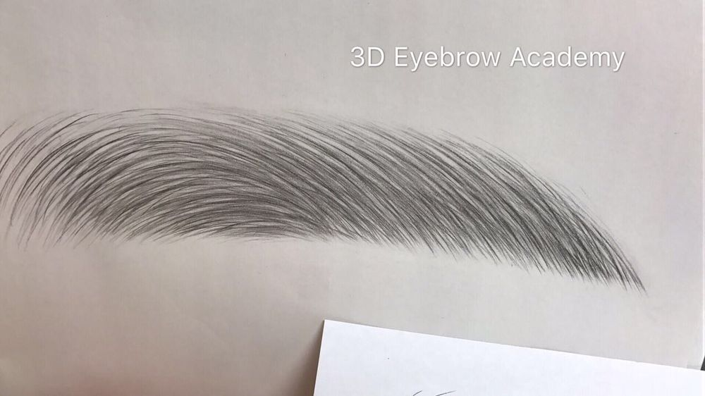 How to achieve 3d hair strokes demonstrated by lisa yelp for 3d eyebrow tattoo el monte ca