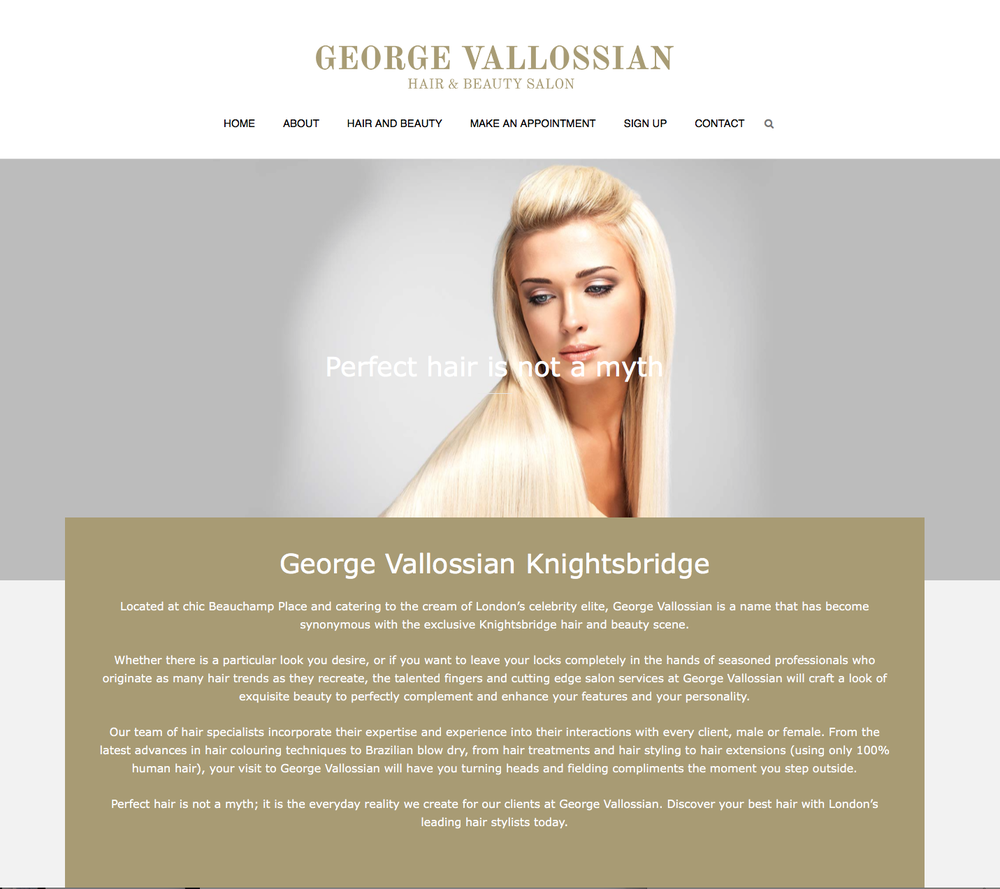 George Vallossian Blow Dry Services 16 Beauchamp Palce Chelsea