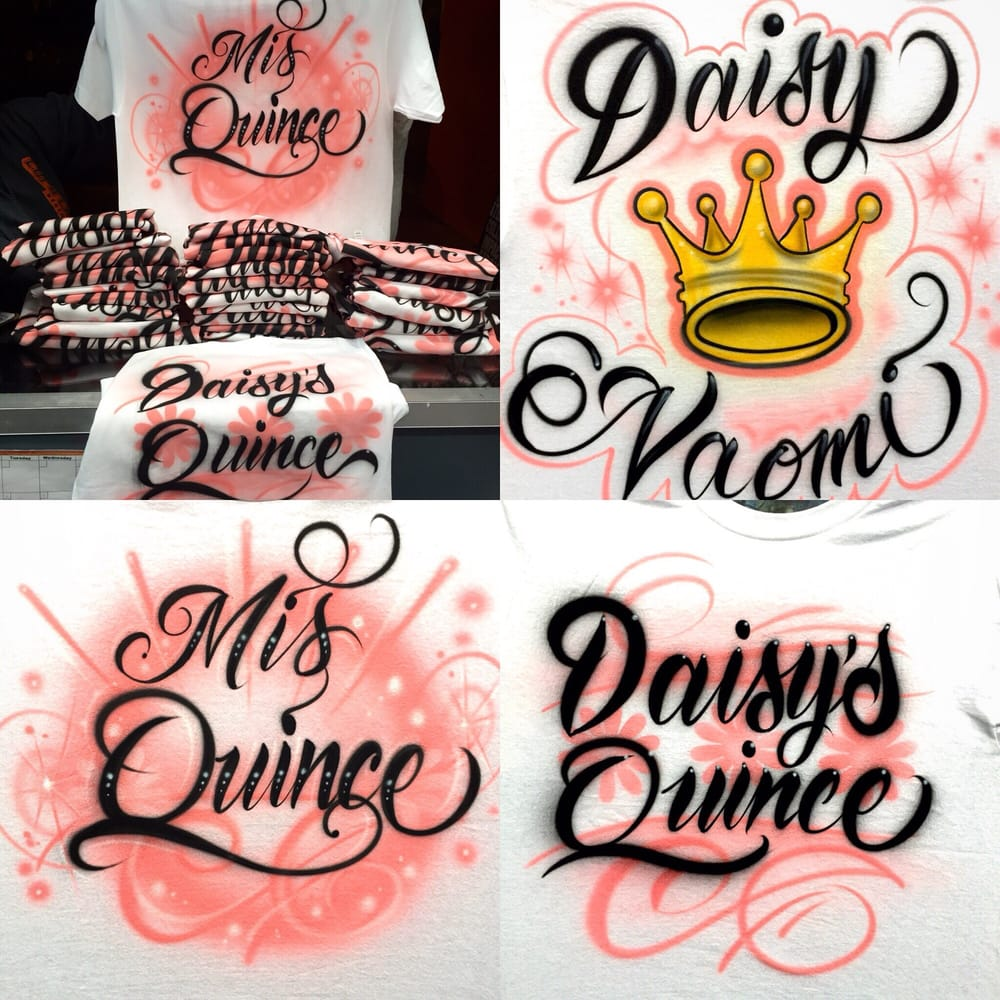 quincea era airbrush shirts great for prevideos and baile
