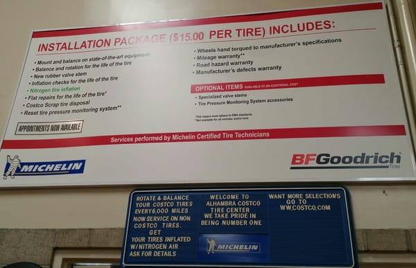 Costco Tire Center 2207 W Commonwealth Ave Alhambra Ca Tire Dealers