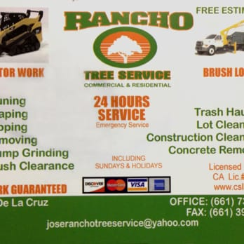 photo of rancho tree service bakersfield ca united states business card - Tree Service Business Cards