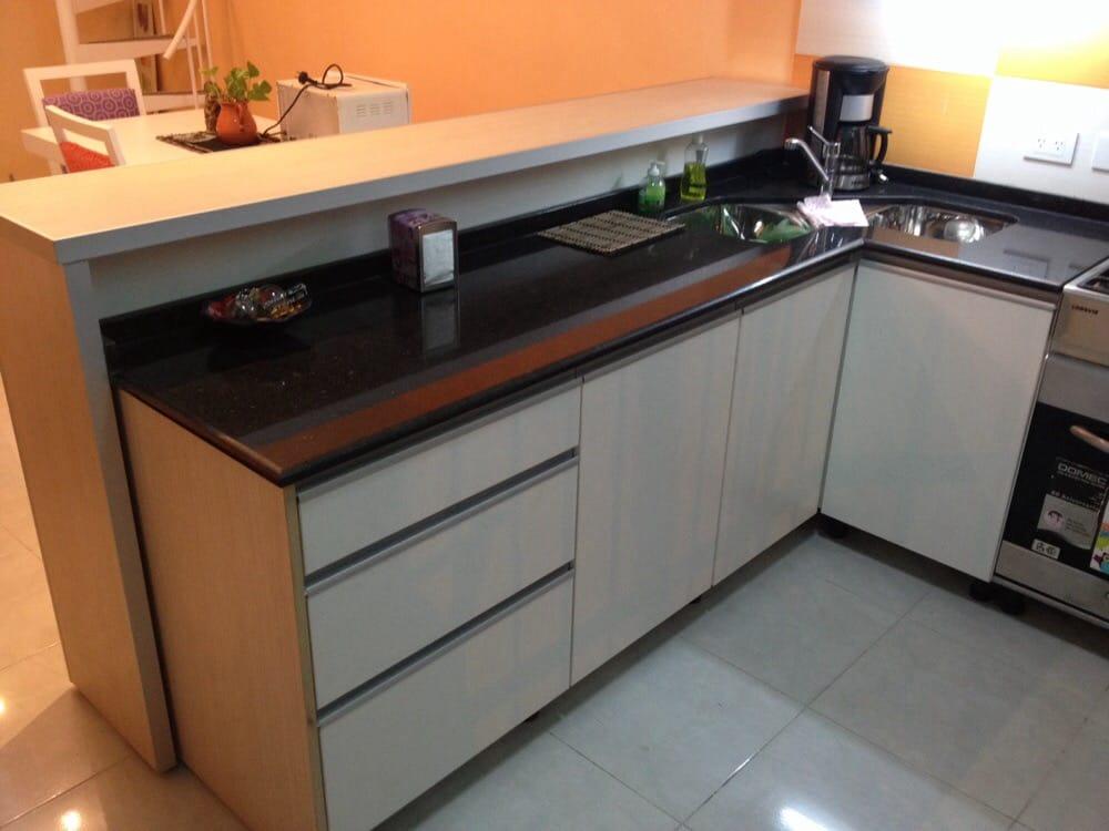 Muebles de cocina melamina roble niagara y blanco for Muebles cocina melamina