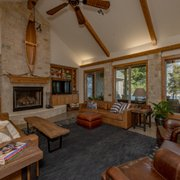 Lakehouse Living Room Photo Of Southwest Homes Bryan Tx United States