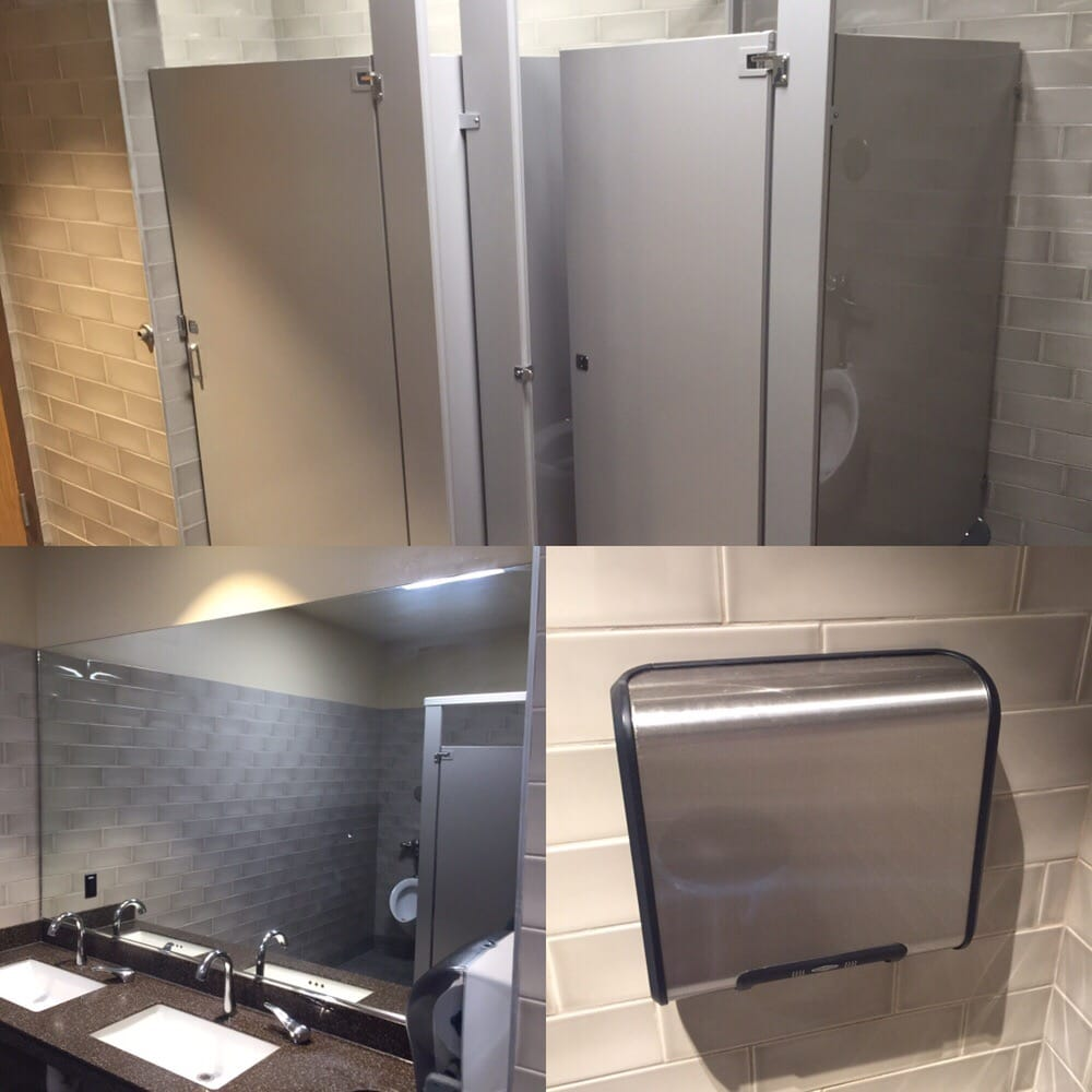 Anti Graffiti Film To Protect Restroom Stalls Mirrors Hand Dryers At A Panera Bread Yelp