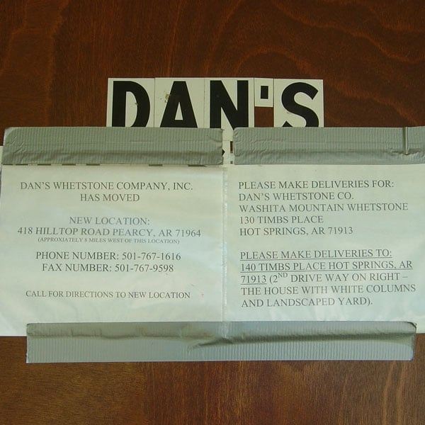 Dan's Whetstone Company: 418 Hilltop Rd, Pearcy, AR