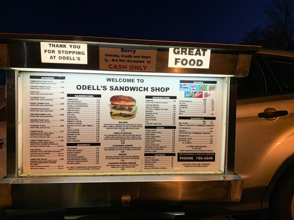 O'Dell's Sandwich Shop: 1224 W Pine St, Mount Airy, NC