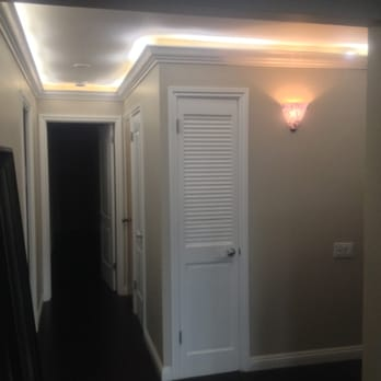 Dropped Down Crown Molding And Installed Led Rope Lighting