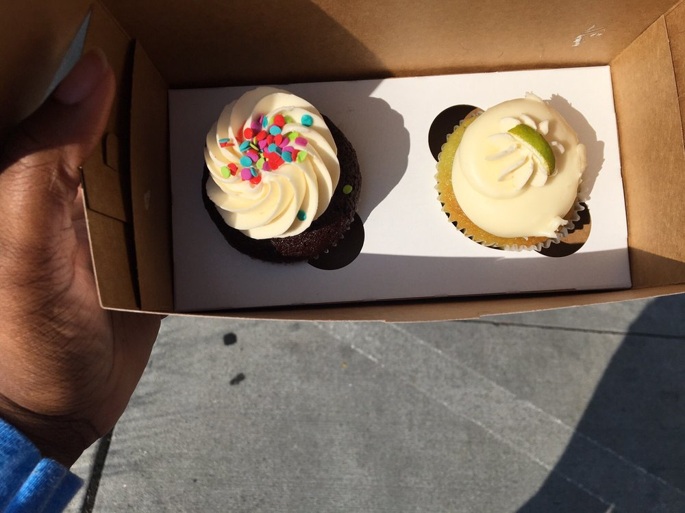 Chocolate birthday cake, left Key lime, right - Yelp
