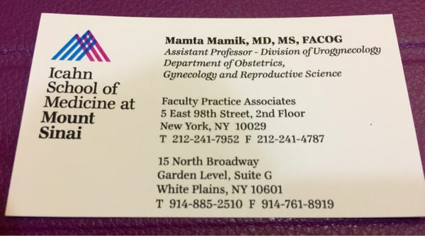 Mt Sinai Obstetrics and Gynecology Faculty Practice
