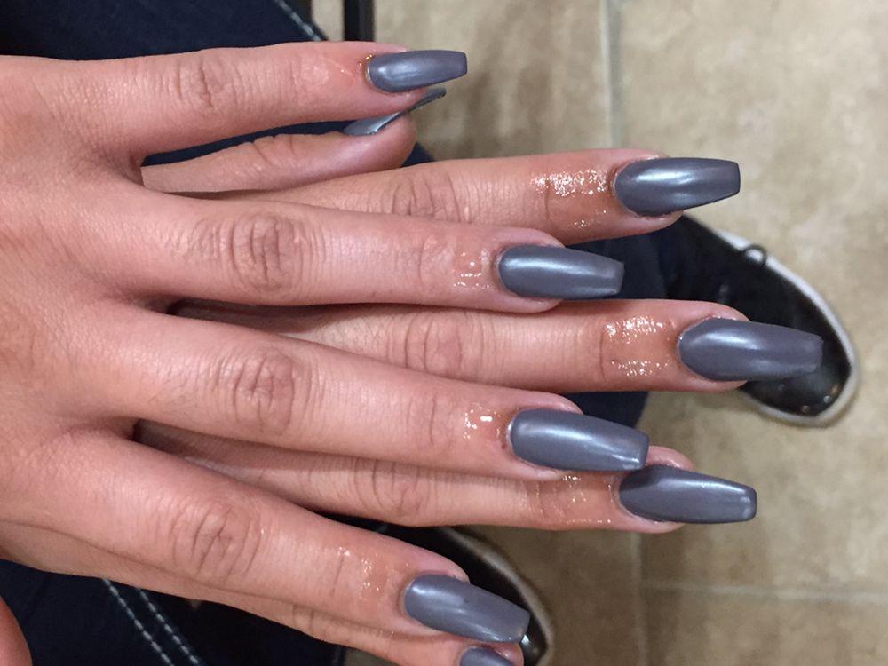 Matte Top Coat over acrylic Nails... - Yelp