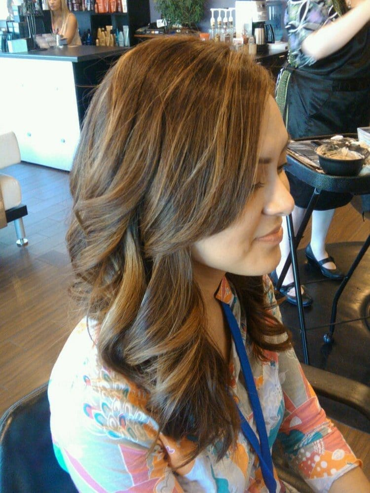 Milk Chocolate Brown With Caramel Highlights Hair By