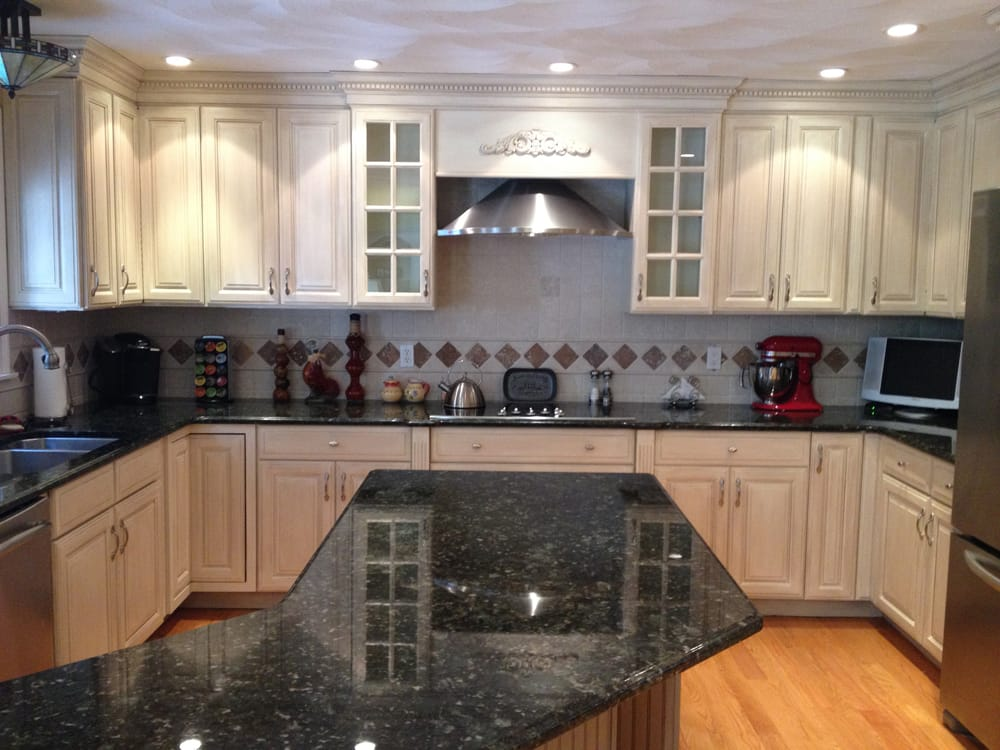 Glazed Kitchen Cabinets In General Finishes Antique White