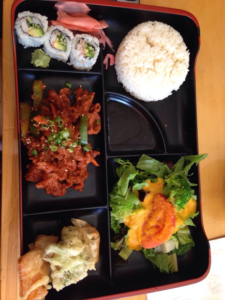 Spicy pork bento box lunch special yelp - Yoshi japanese cuisine ...