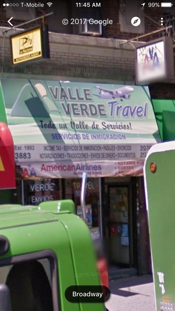 Valle Verde Travel: 3883 Broadway, New York, NY